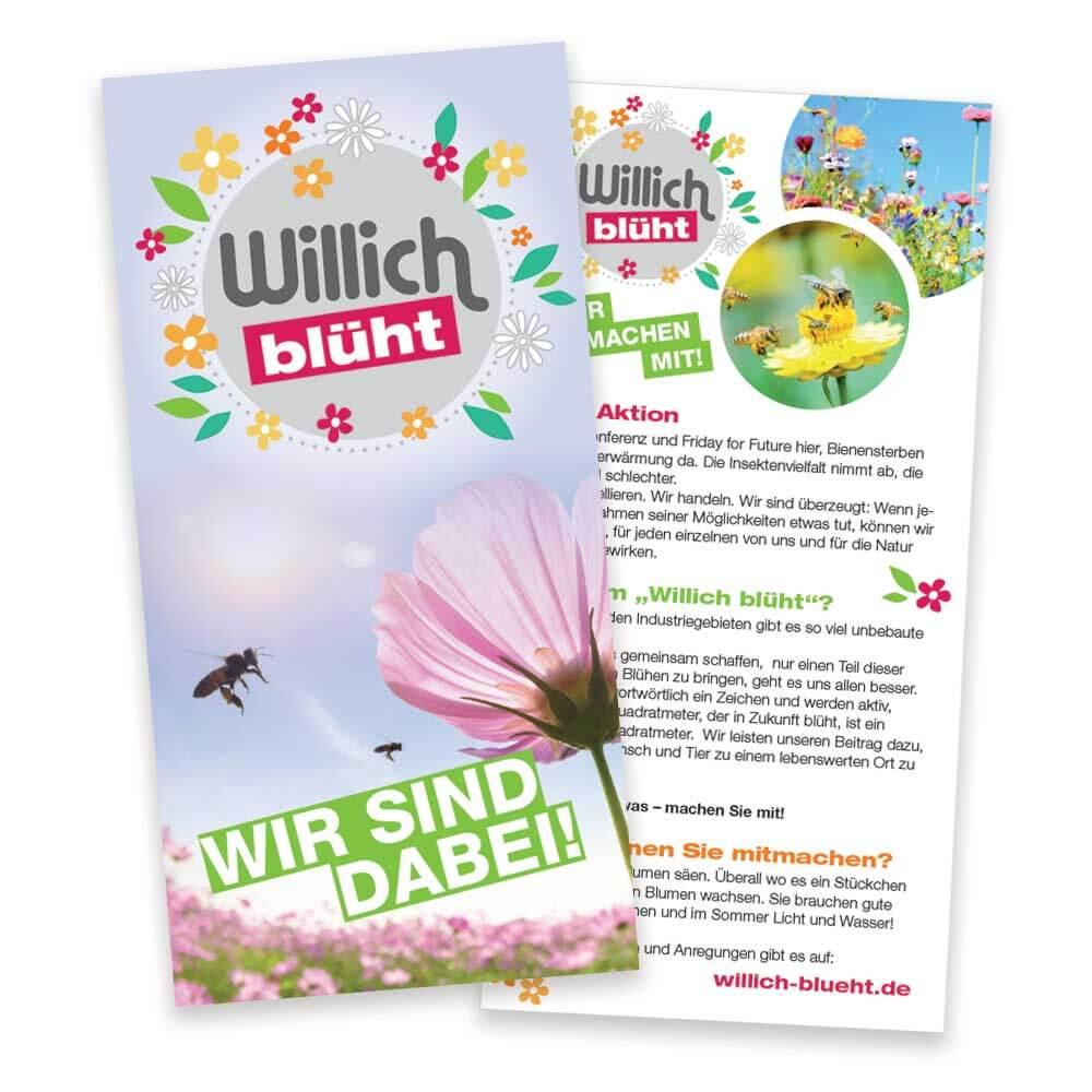"""Flyer """"Willich blüht"""" - Web Vorschau"""