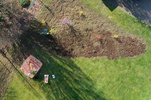 Willich blüht - Luftaufnahme Wildwiese bei CGW